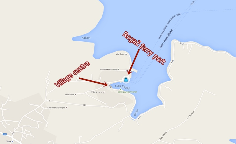 map rogac ferry port