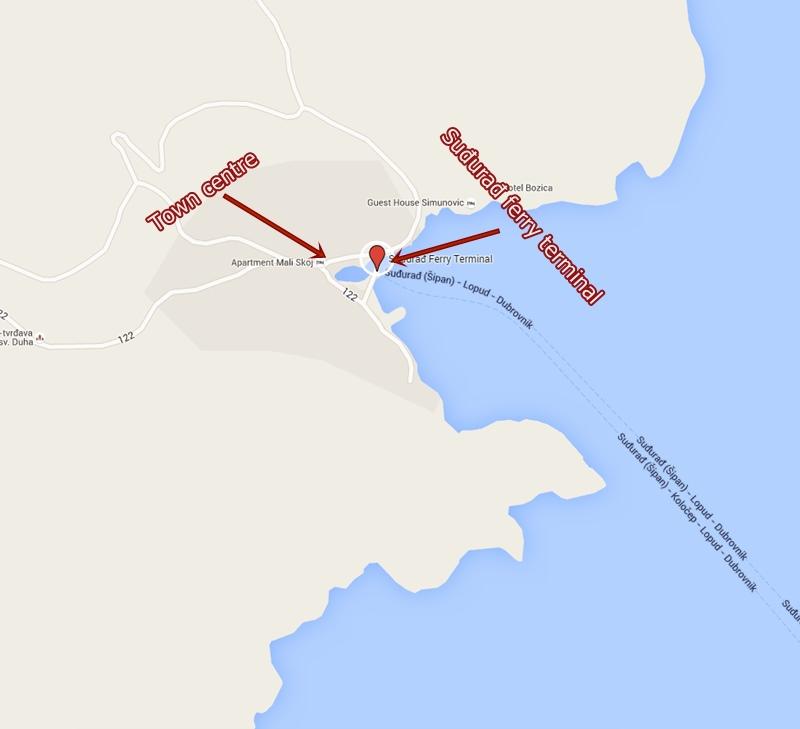 Map ferry port Sudurad