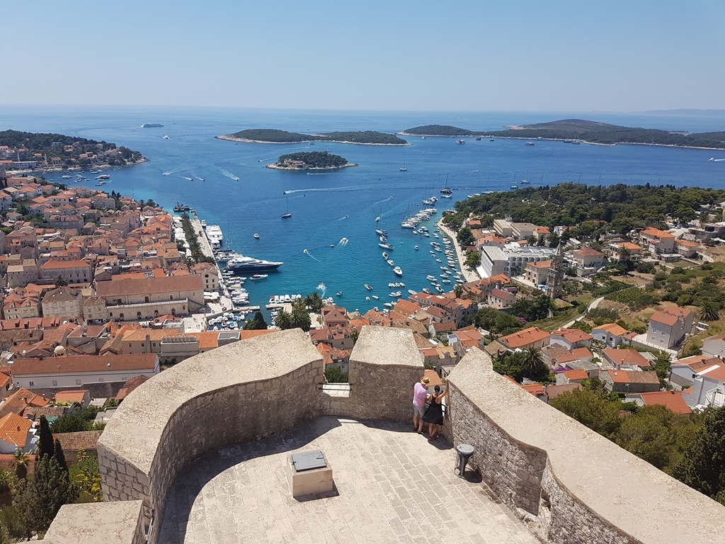 Fortress overlooking town Hvar