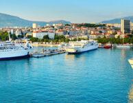 Split ferry port