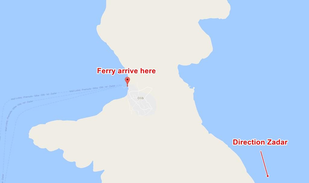 Olib ferry terminal