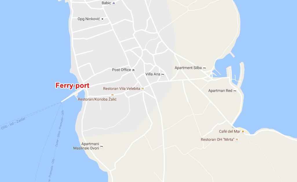 Silba ferry terminal