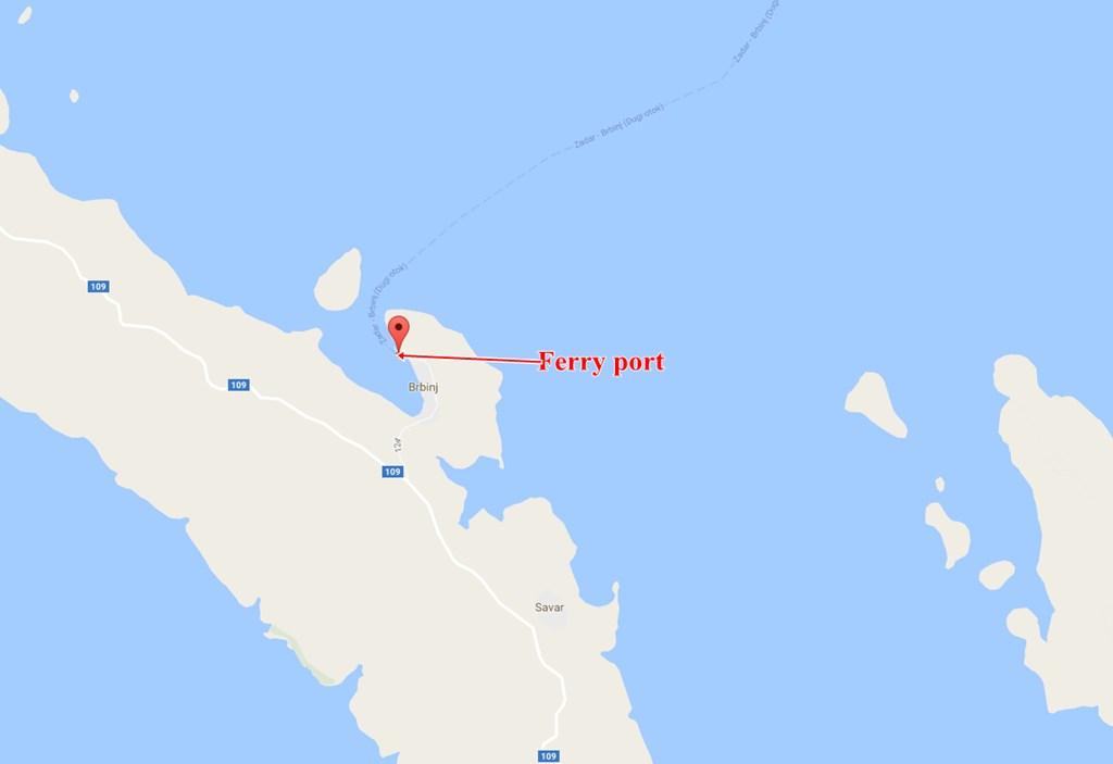 Brbinj ferry port