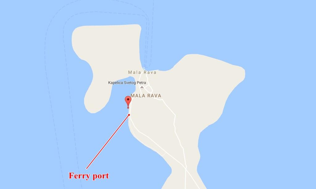 Mala Rava ferry port