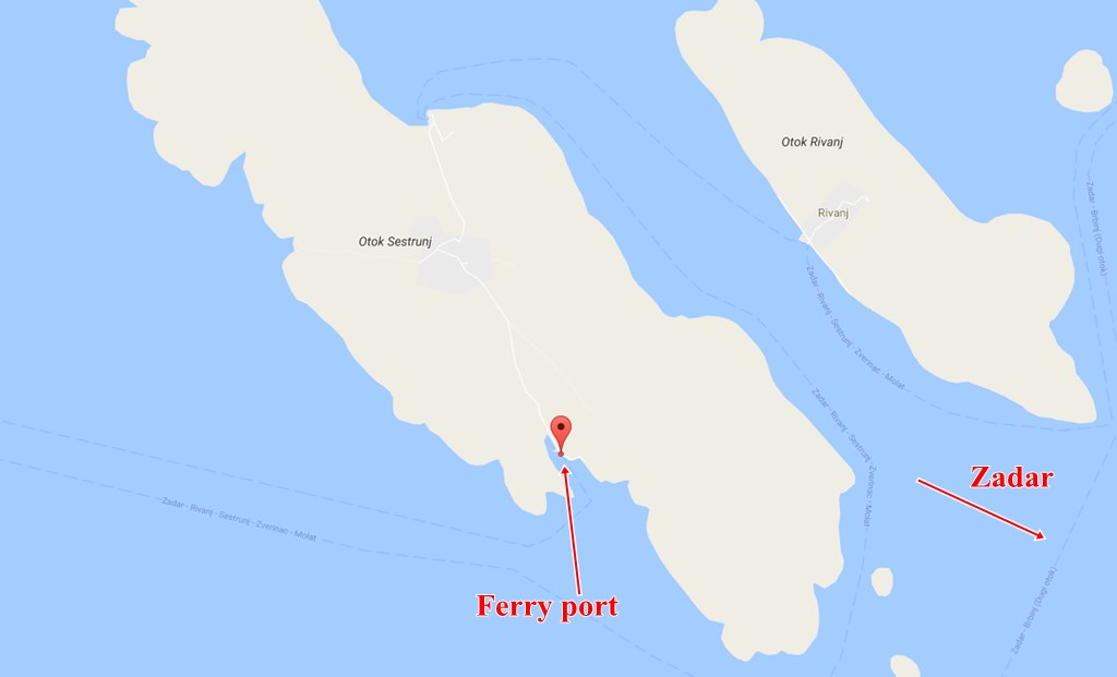 Sestrunj ferry port
