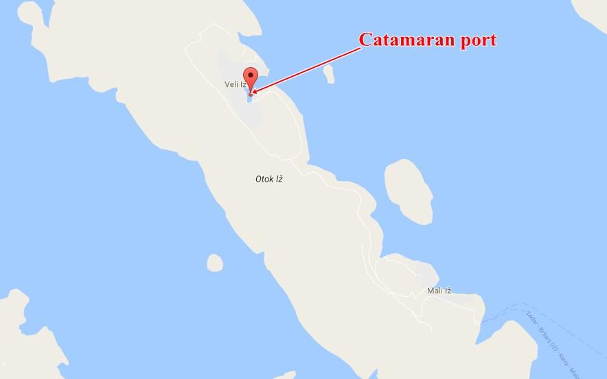 Veli Iz catamaran
